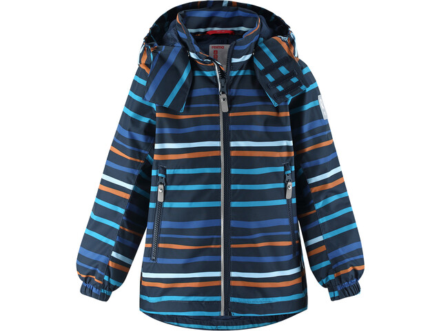 Reima Fasarby Veste Reimatec Enfant, navy/orange stripes